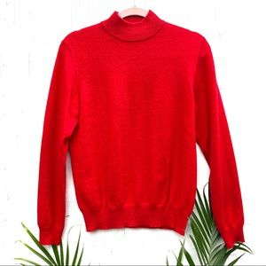 Charter club 2 ply cashmere red turtleneck sweater